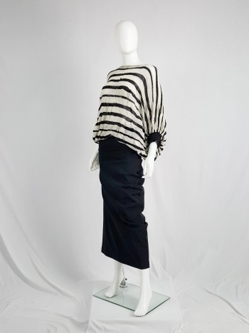 Junya Watanabe beige and black striped circle jumper — fall 2009