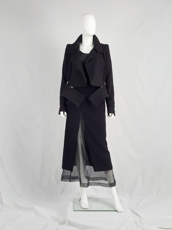 Ann Demeulemeester black biker jacket with zip-off panels — fall 2011