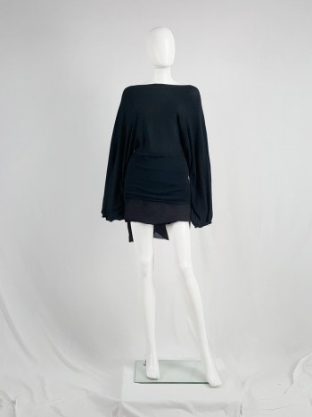 Ann Demeulemeester black jumper with wide sleeves — spring 2001