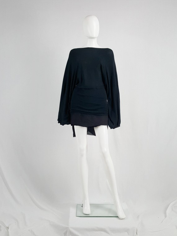 vaniitas vintage Ann Demeulemeester black jumper with wide sleeves spring 2001 162140