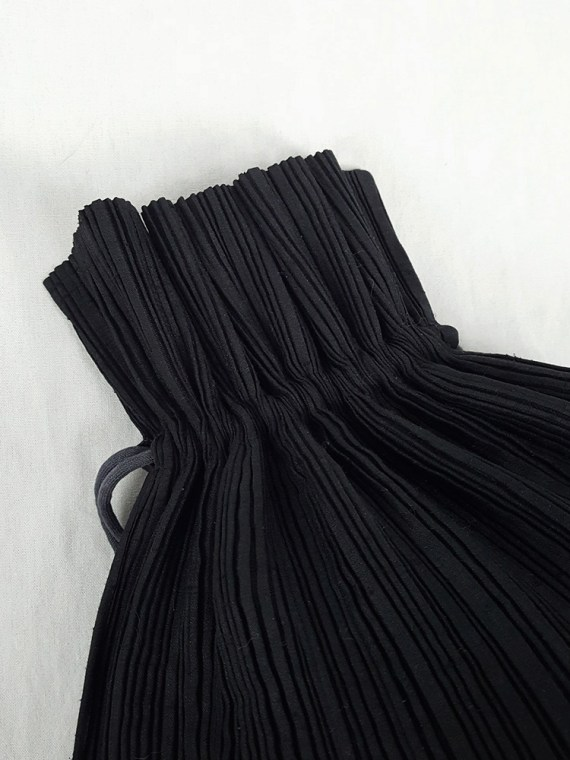 Issey Miyake Pleats Please black drawstring backpack