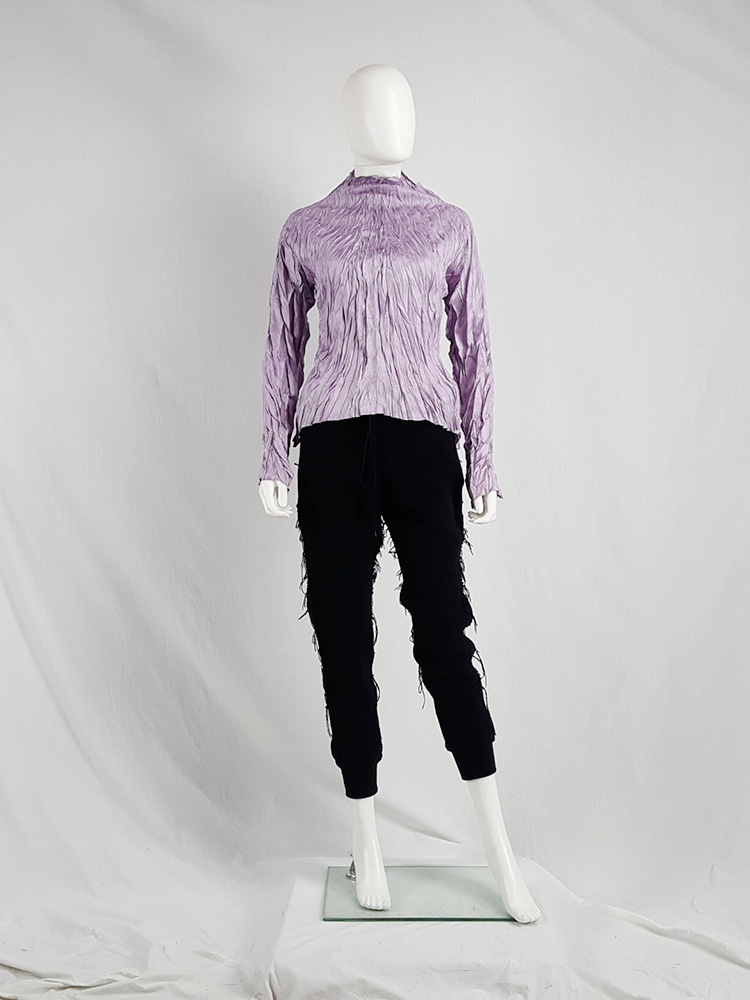 vaniitas vintage Issey Miyake Pleats Please creased purple jumper 1446