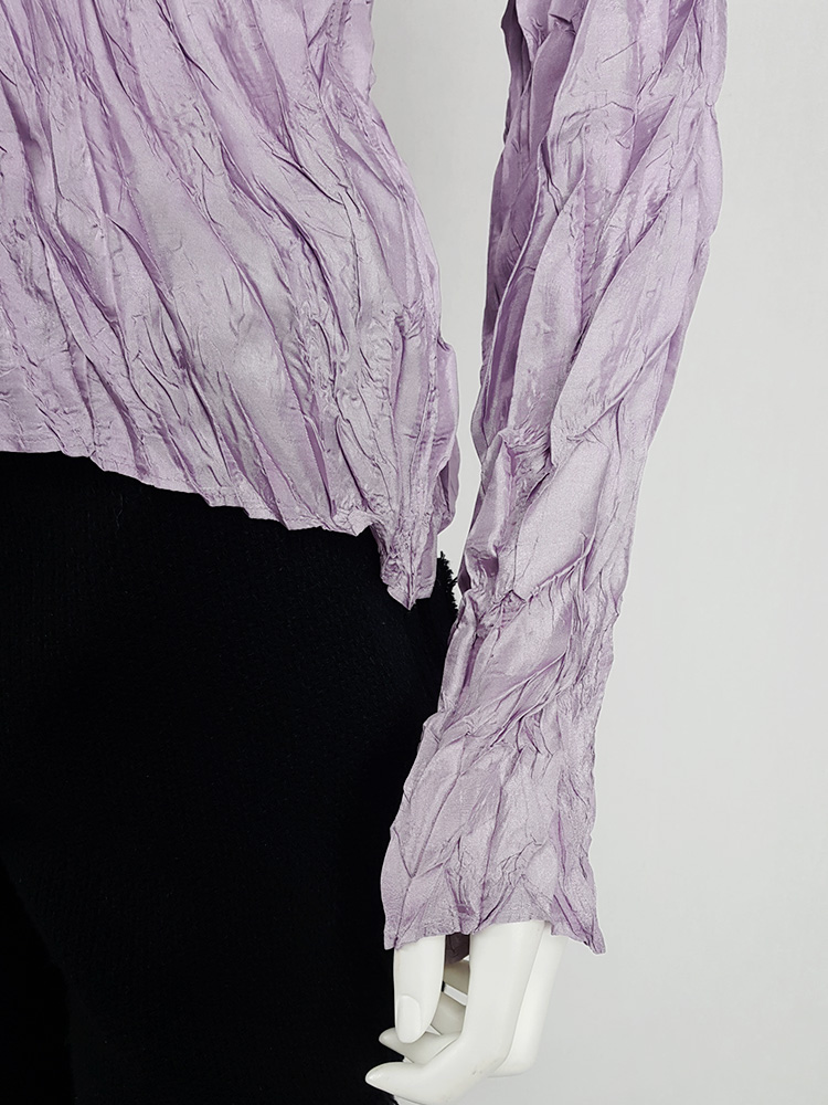 Issey Miyake Pleats Please creased purple jumper