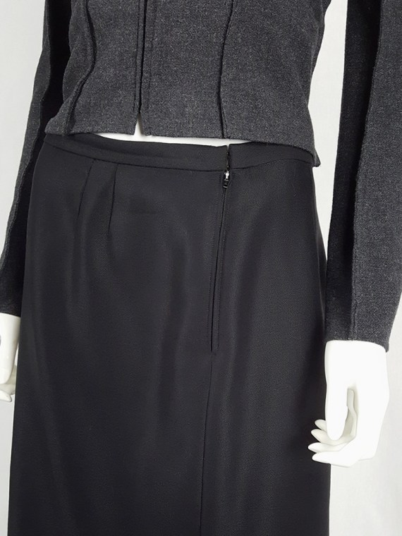 Maison Martin Margiela black backwards skirt — fall 2000