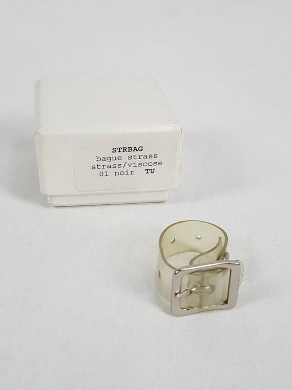 Maison Martin Margiela transparent ring with belt buckle — spring 1996