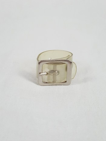 Maison Martin Margiela transparent ring with belt buckle — spring 1996