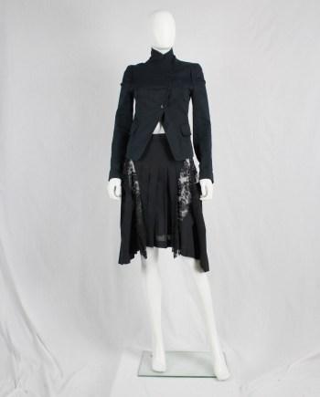 Ann Demeulemeester blue asymmetric blazer with cutaway front