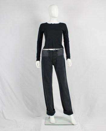 Maison Martin Margiela black jumper with cut-off neckline — 1996/1998