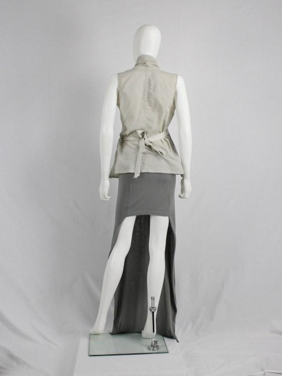 Maison Martin Margiela grey maxi skirt with mini-skirt back — spring 2008