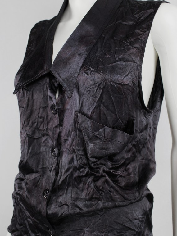 Maison Martin Margiela purple wrinkled shirt in exclusive fabric — fall 2004