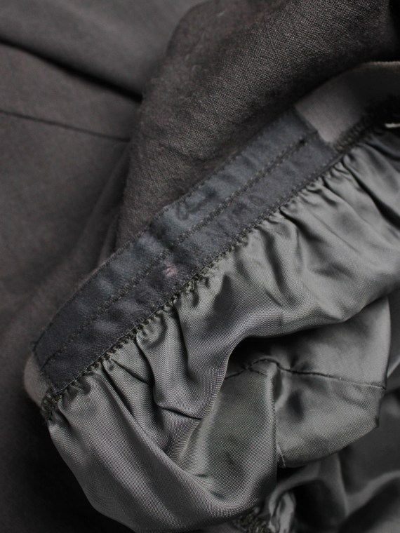 Rick Owens GLEAM brown shorts with front pleating and back drape — fall 2010