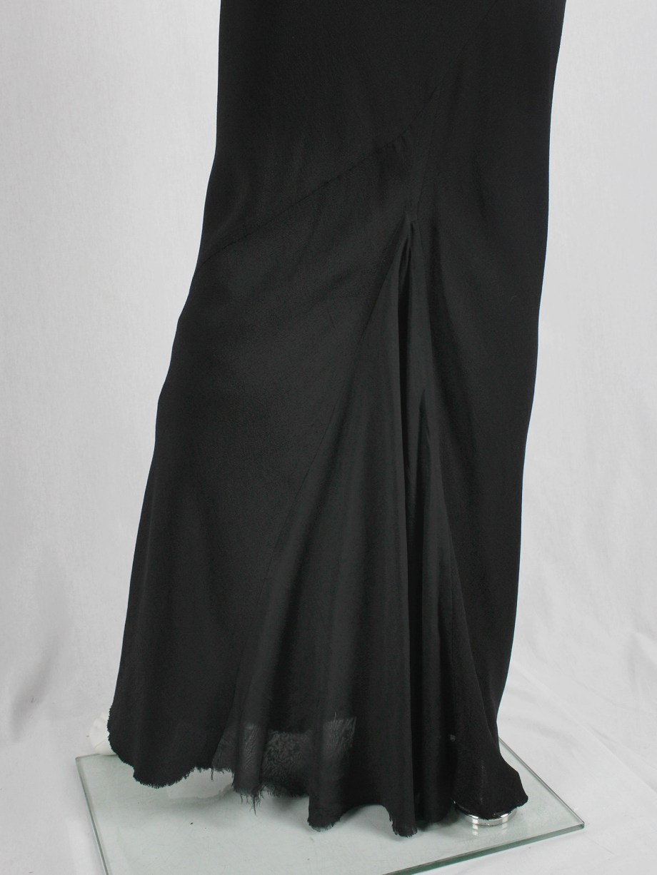 Rick Owens TUNGSTEN black maxi mermaid skirt — spring 2006