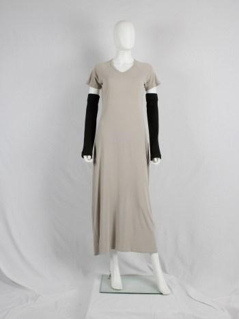 Maison Martin Margiela beige t-shirt dress with open seams — spring 1999