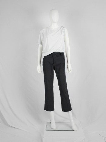 Maison Martin Margiela replica black masculine trousers — spring 2006