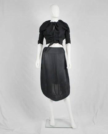 Maison Martin Margiela black seat cover skirt — fall 2006