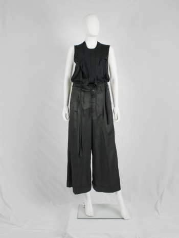 Comme des Garçons black trousers with wide flared legs — fall 2004