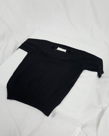Maison Martin Margiela black flat t-shirt — spring 1998
