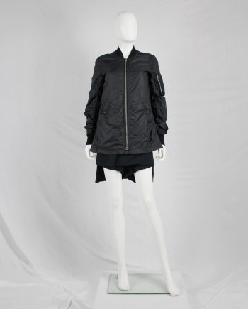 Rick Owens DRKSHDW black lightweight bomber jacket