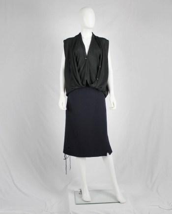 Maison Martin Margiela black double layered cardigan — spring 2003