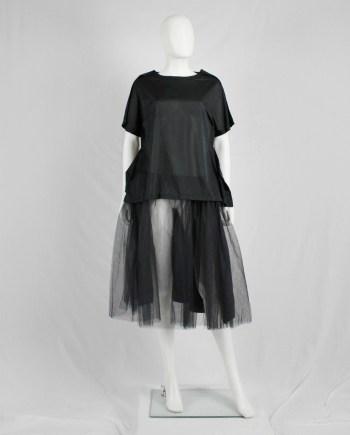 Comme des Garçons Comme black 2D top with paperdoll design — AD 2014