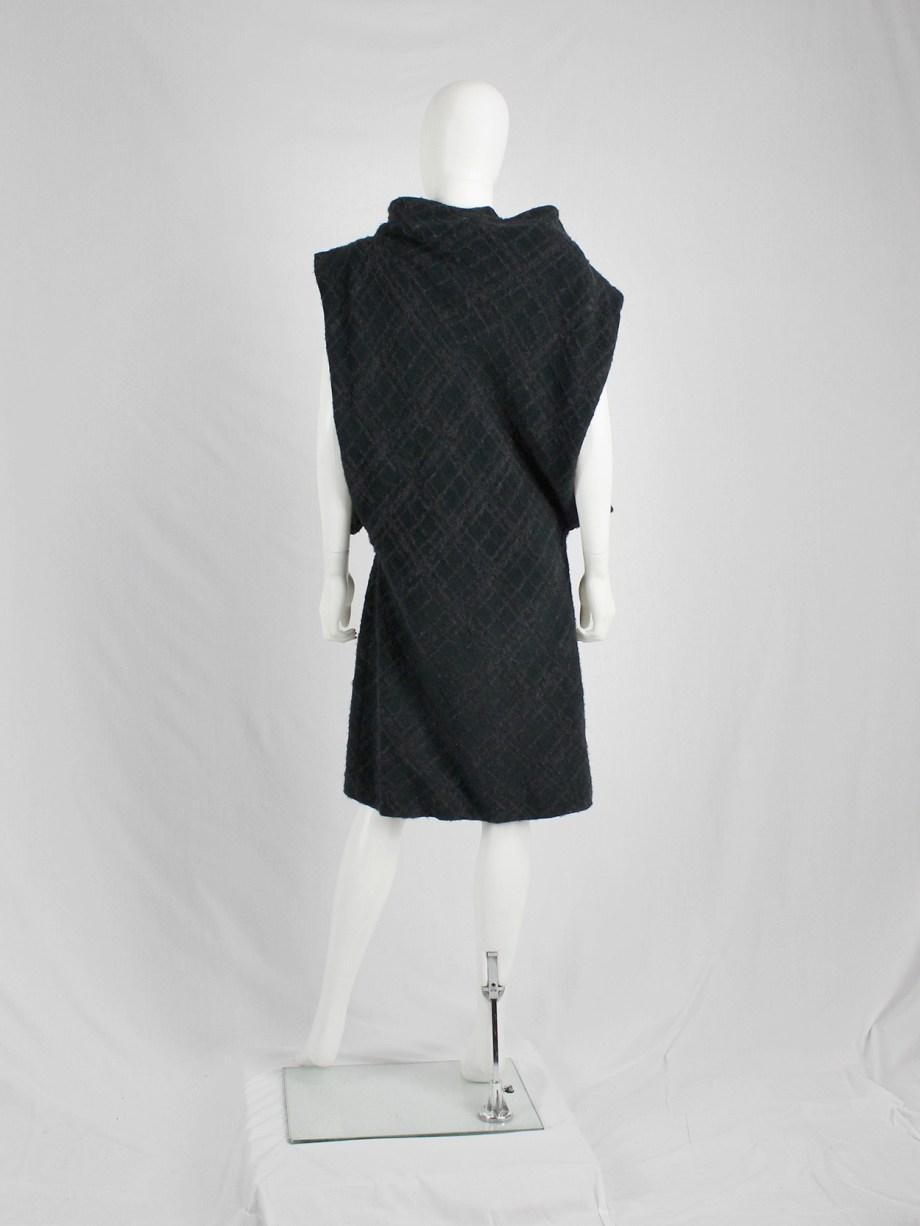 Maison Martin Margiela dark blue oversized dress with open sides — fall 2001