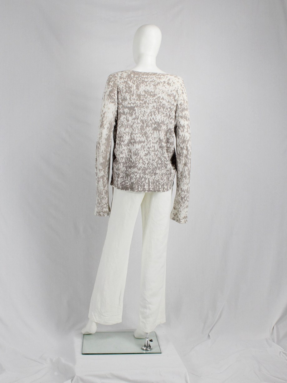 Maison Martin Margiela white inside-out trousers with exterior lining — spring 2003