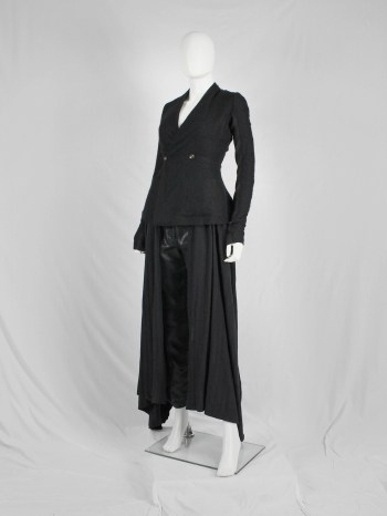 Rick Owens black minimalist blazer with tailored wider hips