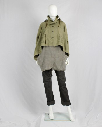 Comme des Garçons khaki jacket with trompe-l'oeil stitching — fall 2009