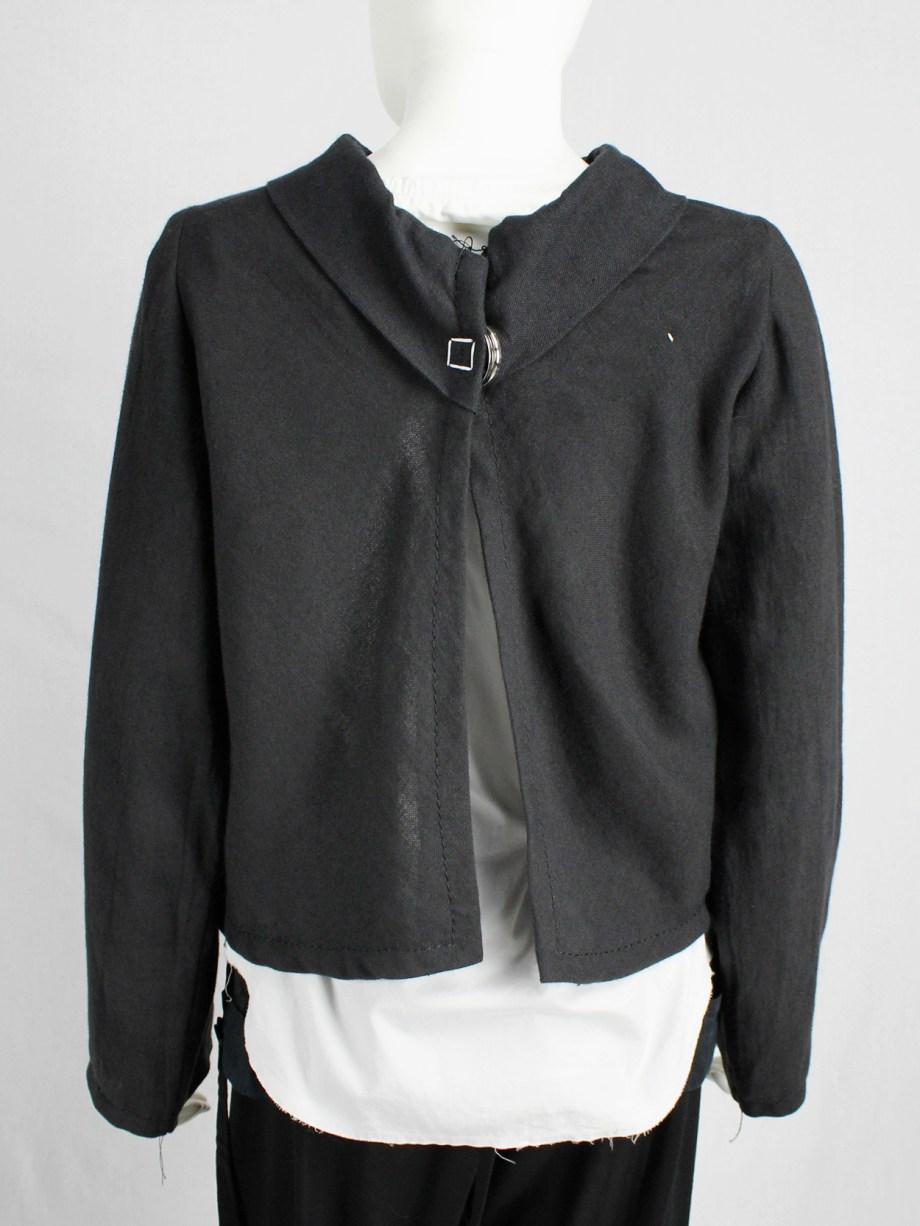 Maison Martin Margiela black jacket reproduced from a doll's wardrobe — spring 1999