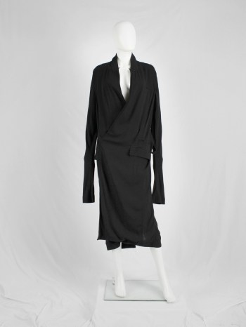 Haider Ackermann black minimalist dress or maxi cardigan