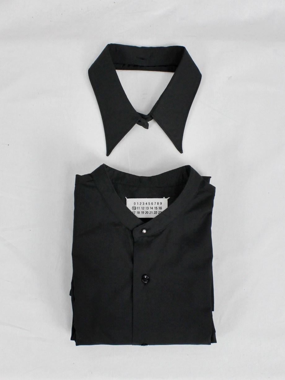 Maison Martin Margiela black shirt with detacheable collar — fall 2002
