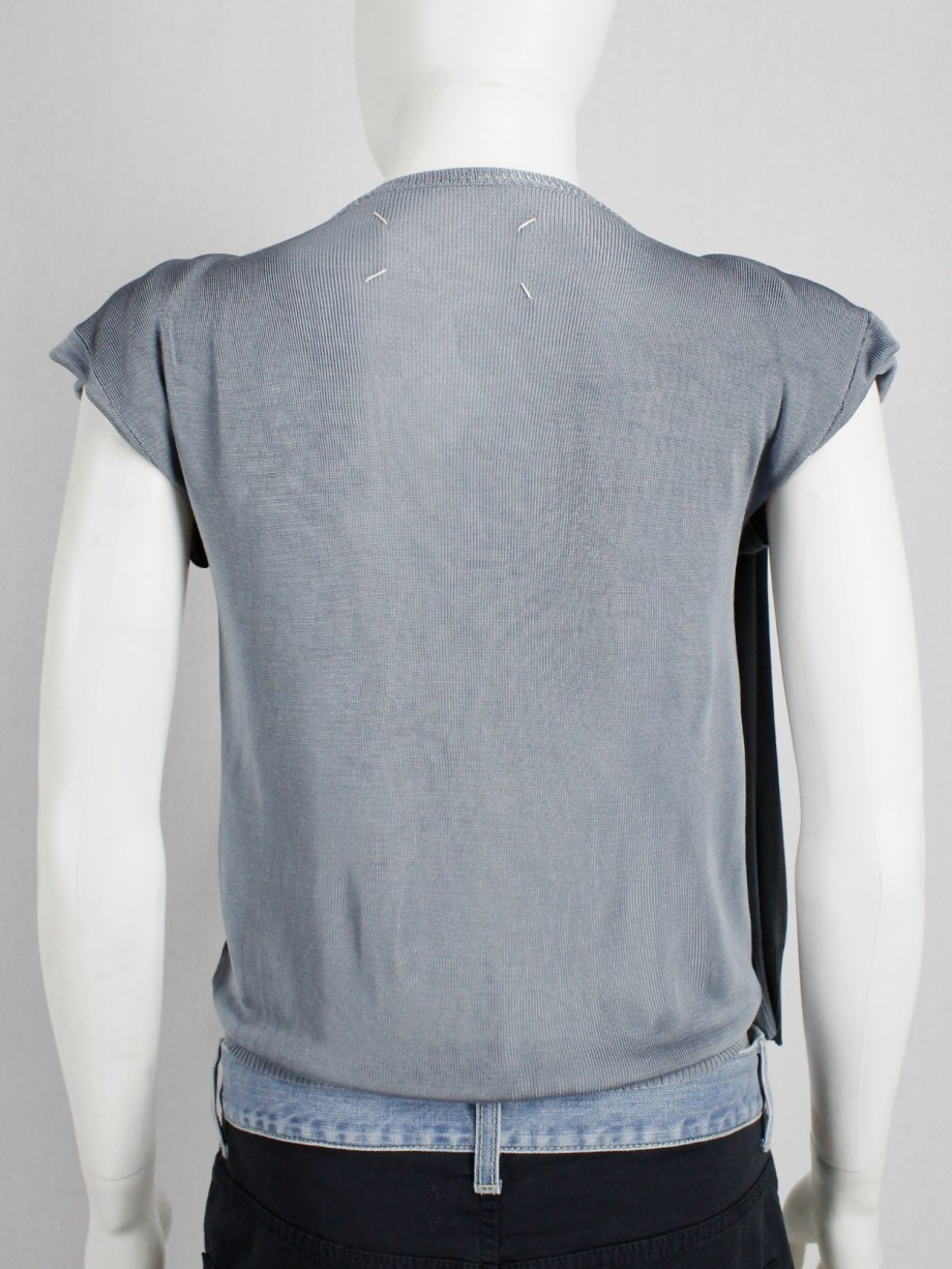 Maison Martin Margiela blue jumper with the sleeves pulled inside out — 1990's