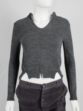 Maison Martin Margiela grey jumper made of a turtleneck jumper — fall 2002