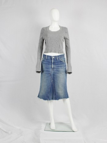 Maison Martin Margiela denim skirt made of denim trousers — fall 1996