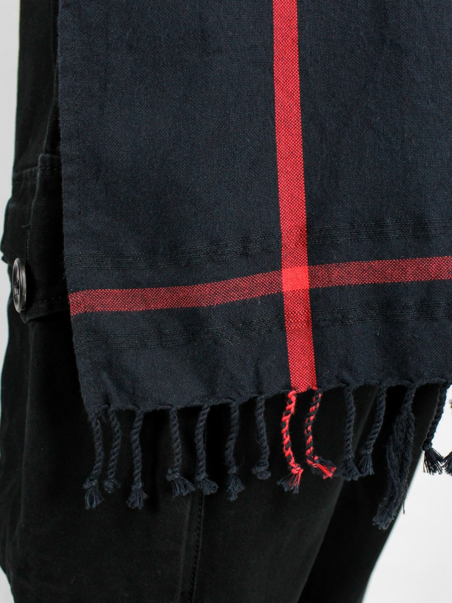 Bless n°49 black t-shirt with oversized scarf attached to the front — 2013