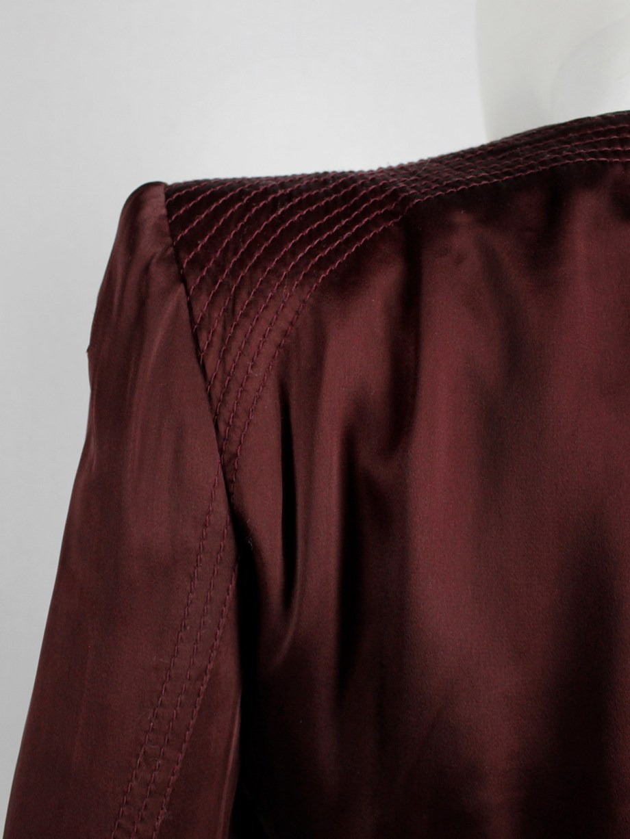 Haider Ackermann burgundy jacket with double front zipper fall 2009 (12)