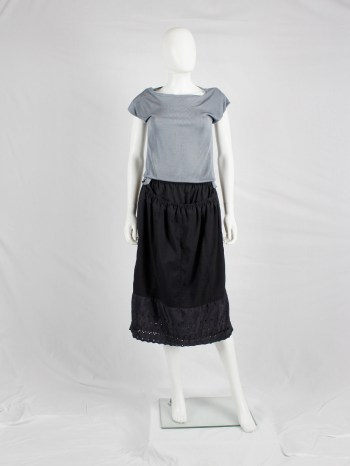 Maison Martin Margiela artisanal blue skirt made of skirt linings — spring 2004