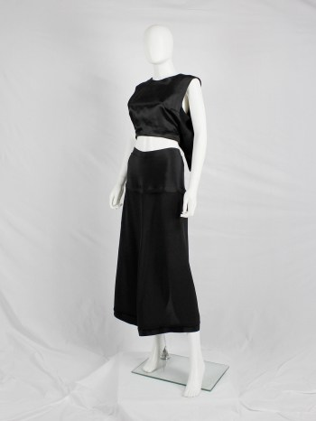Ann Demeulemeester black backwards waistcoat with open back — spring 2003