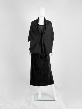 Y's Yohji Yamamoto black oversized cocoon jumper with double neckline