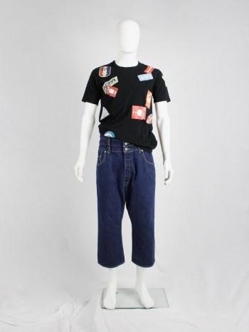 Ganryu denim trousers with quadruple waistband and dropped crotch — AD 2012