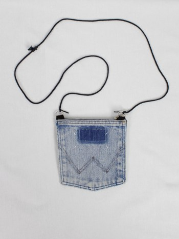 Maison Martin Margiela necklace with denim pocket pouch — spring 1999