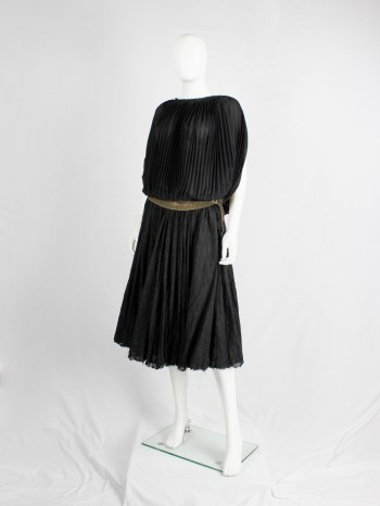Junya Watanabe black pleated circular top — fall 2009