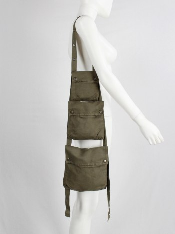Maison Martin Margiela 6 khaki green bag with modular cargo pockets — spring 2006