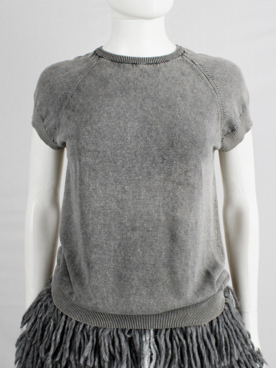 Maison Martin Margiela grey t-shirt with a white airbrushed outer — ca 2000