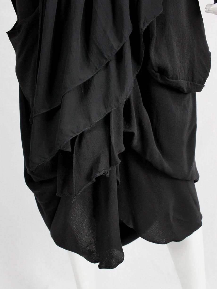 Maison Martin Margiela grey high neck t-shirt with loose threads — fall 1998