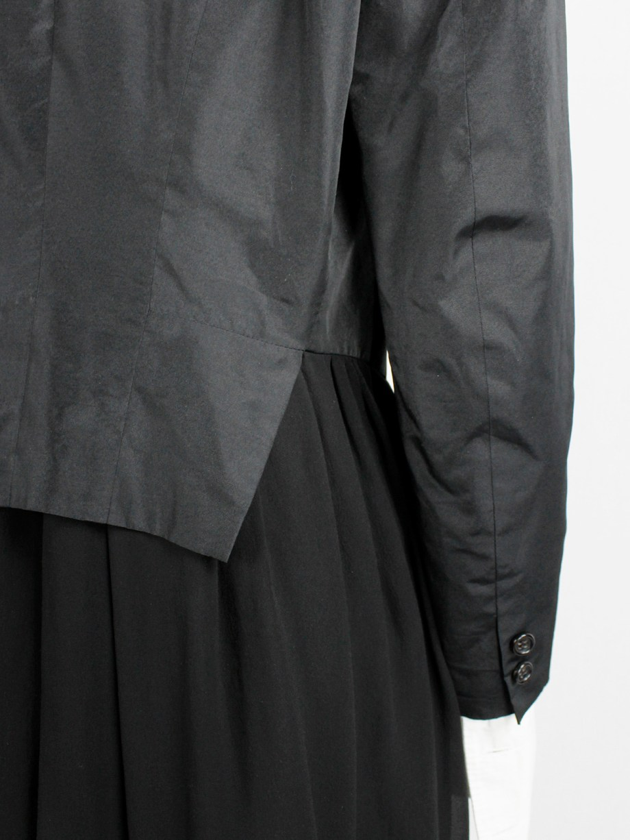 Comme des Garçons black tailcoat with attached inner waistcoat — AD 1988