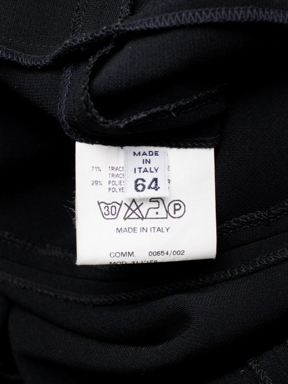 Maison Martin Margiela black extremely oversized dress in a size 64 — fall 2000