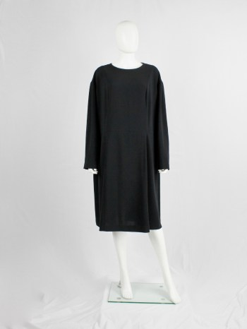 Maison Martin Margiela black extremely oversized dress in a size 64 — fall 2000