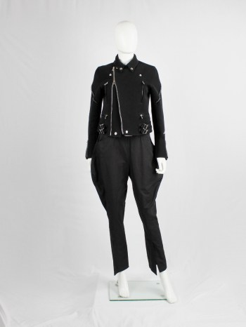 Yohji Yamamoto black horse riding trousers with panels — spring 2007