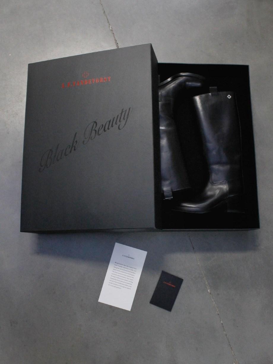 A.F. Vandevorst Black Beauty boots with diamond cross